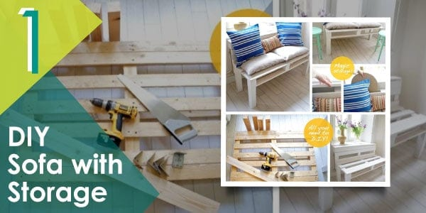 DIY outdoor sofa made with pallets