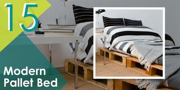 Or do something for yourself like this modern pallet bed frame!
