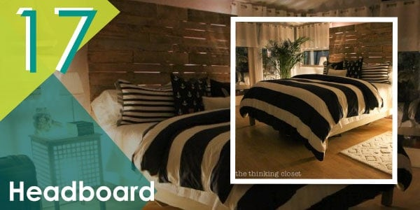Complete the look of your pallet bed frame with this DIY headboard.