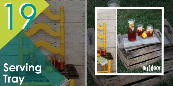 Cute-looking serving pallet tray, perfect for hosting al fresco dining.
