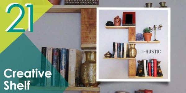 Think something unique like this creative pallet shelf!