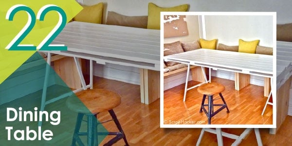 Who said you can't make your own dining table? With pallets, nothing is impossible!