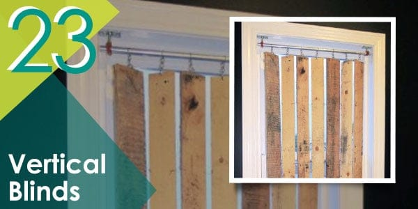 Get creative with your window blinds by recreating this pallet DIY project!
