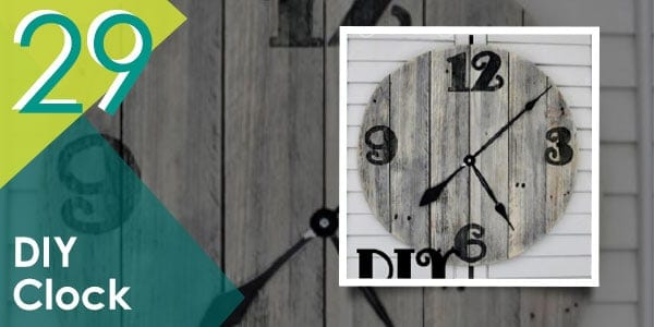 What time is it? It's time to re-create this DIY pallet clock!