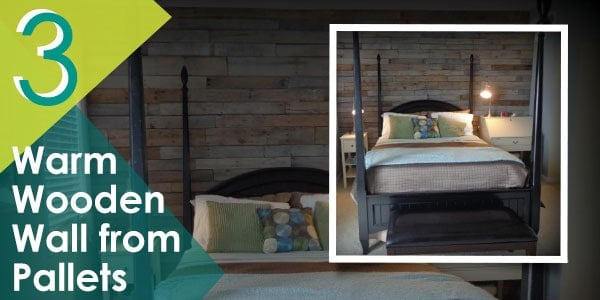 Add a touch of warmth in your bedroom or living area with this DIY pallet wall