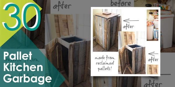 Keep those garbage out of sight with this pallet storage bin.
