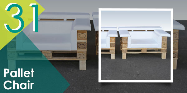These pallet chairs will look great in your outdoor space.