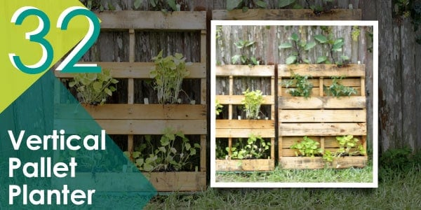Give your hanging plants a home, just like this vertical pallet planter!