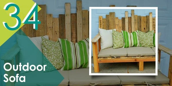 This pallet sofa is great for afternoon lounging.