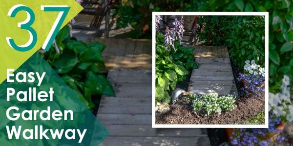 Create a walkway for your garden with pallets.