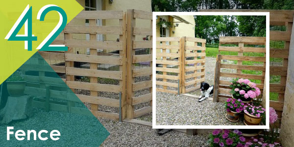 Add privacy to your outdoor space by installing pallet fences around.