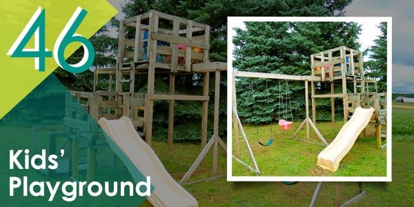 Or this cool pallet playground!
