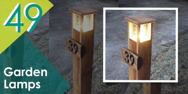 Light up your outdoor space with this pallet garden lamps.