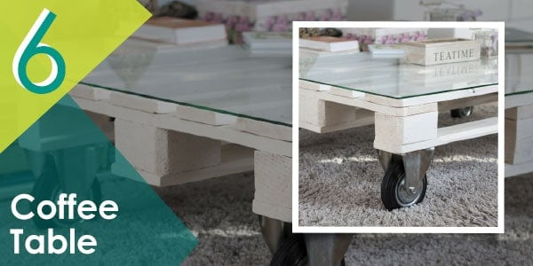 Complete the look of your patio or outdoor space with this DIY pallet coffee table