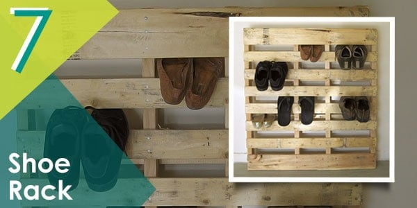 Organise your shoe collection with this pallet shoe rack organiser!