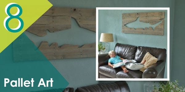 Try this creative shark art pallet this weekend with your kids!