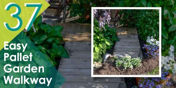 Easy Pallet Garden Walkway