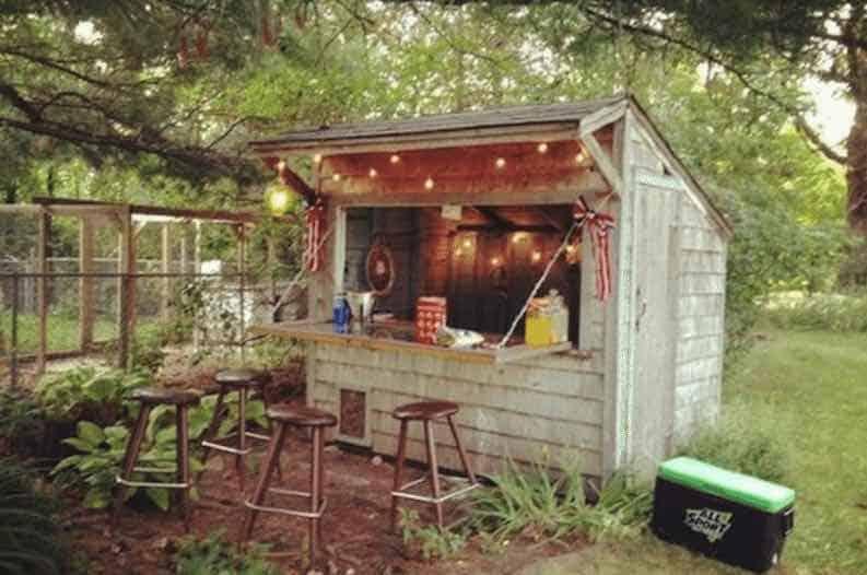 garden bar shed