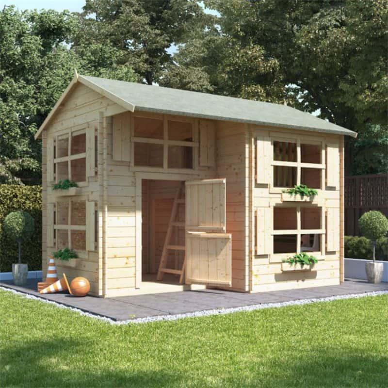 BillyOh Annex Log Cabin Wooden Playhouse
