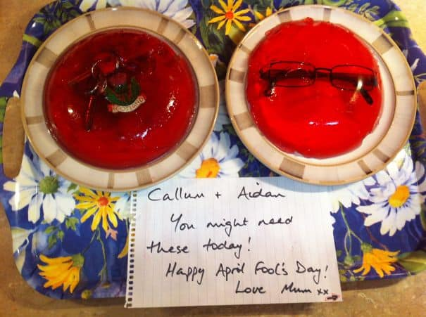 aprils fools prank - gelatin dish