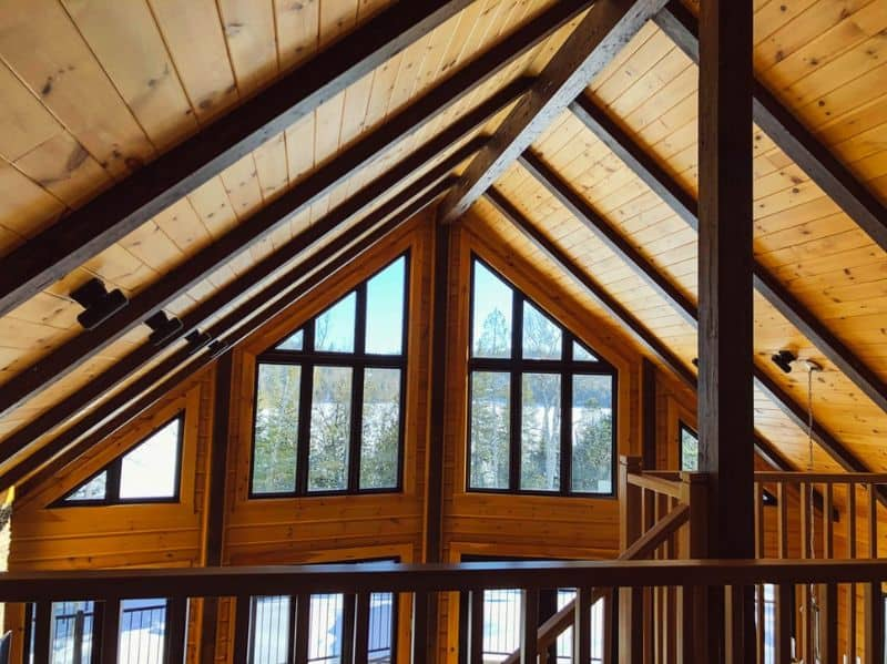 Roof interior of a summer house
