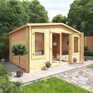 ways-to-heat-up-your-garden-in-winter-6-log-cabin