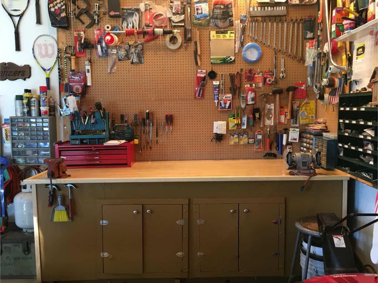 12-shed-storage-ideas-10-pegboard-tool-organiser-unsplash-