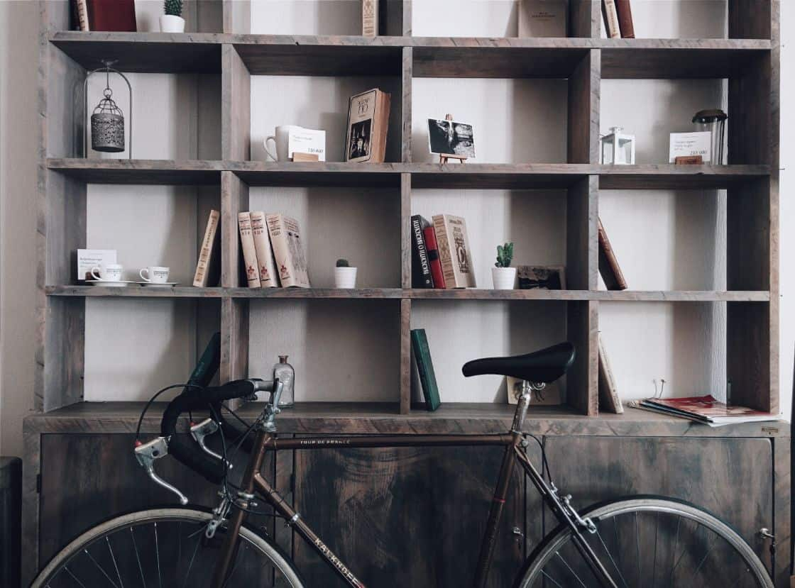 12-shed-storage-ideas-3-repurposed-bookshelf-unsplash