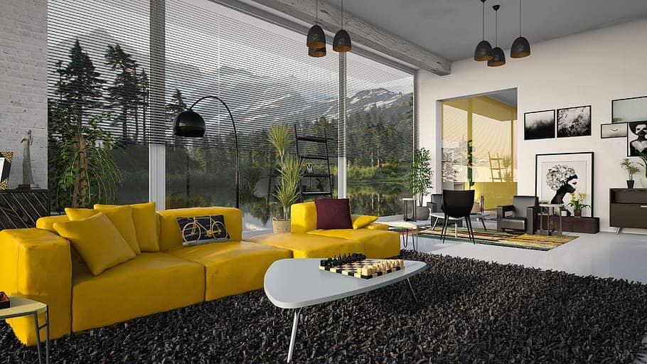 Earth toned living room