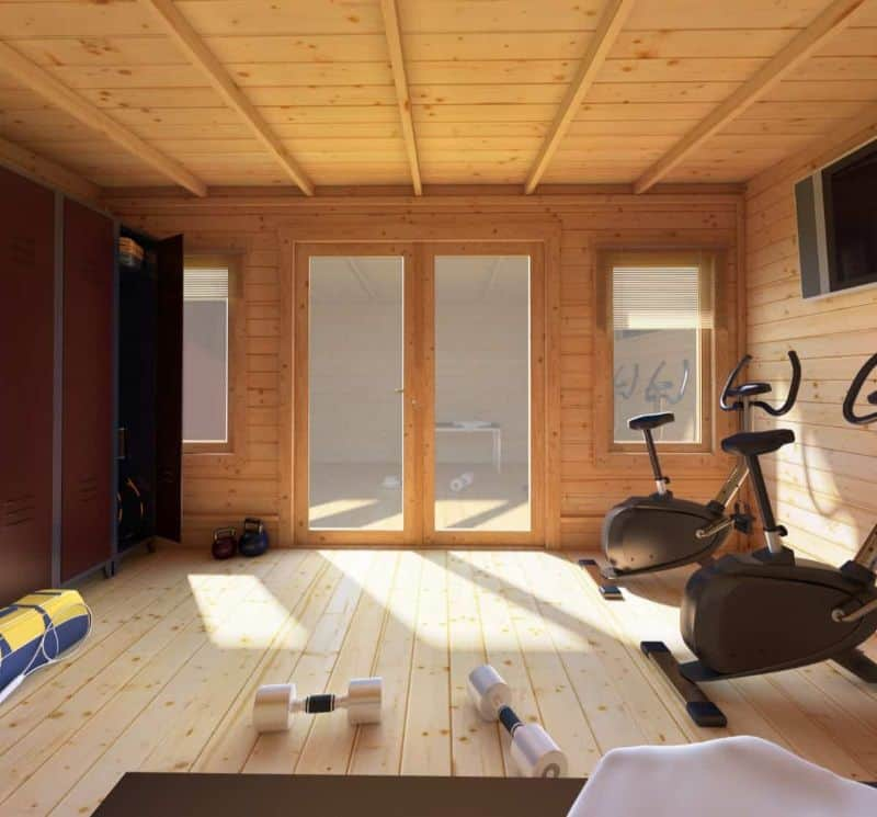 ways-to-turn-your-log-cabin-into-a-home-gym-6-decorate-and-work-it-out