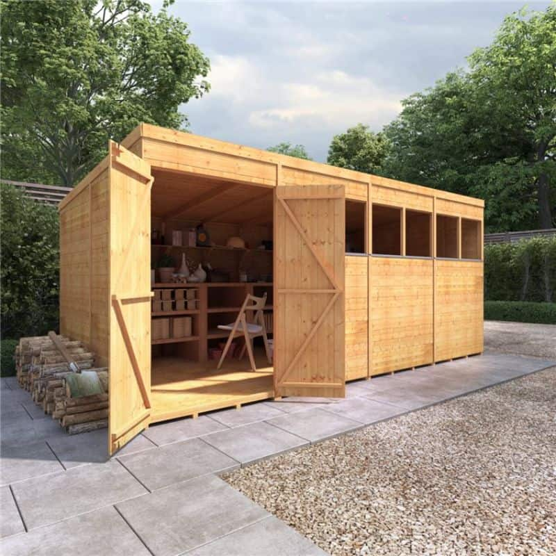 Using a garden shed for your garden bar