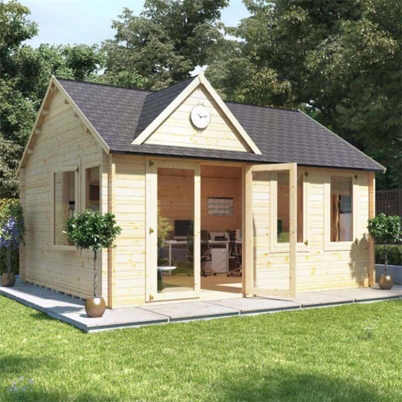 Converting your shed into a garden office - BillyOh Clubhouse Home Office Log Cabin