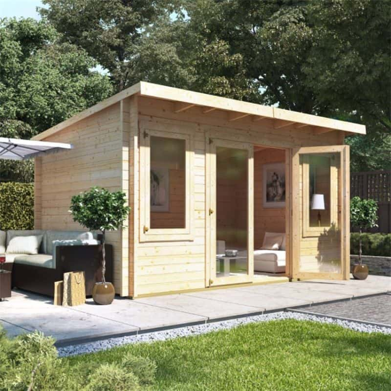 Converting your shed into a garden office - BillyOh Fraya Pent Log Cabin