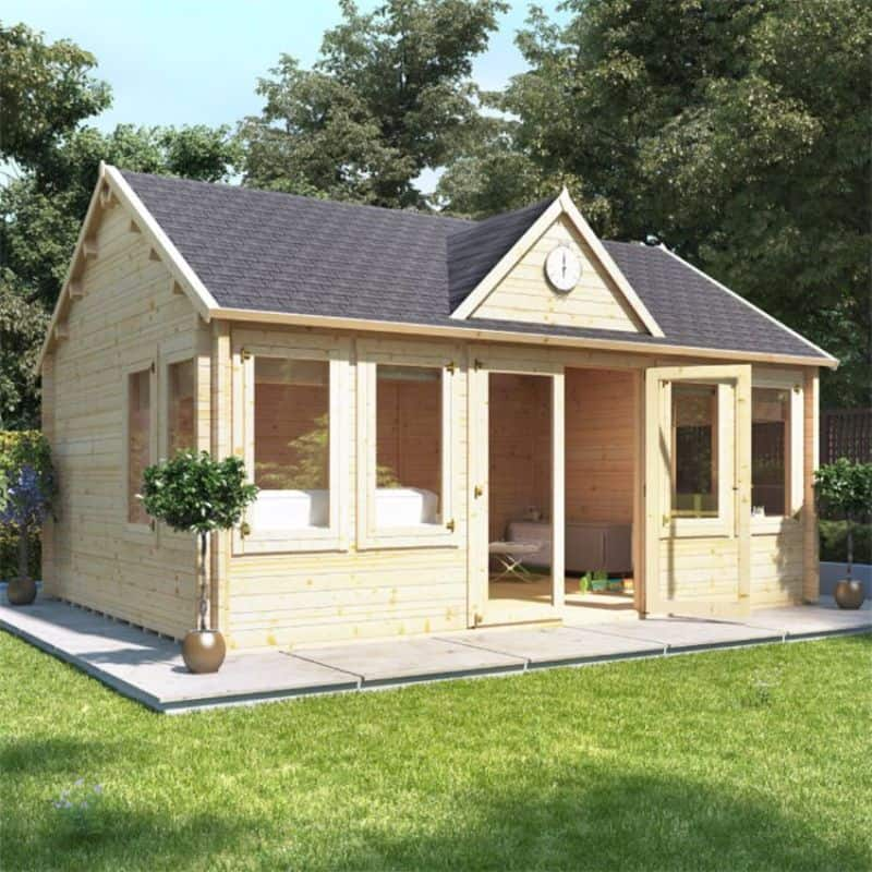 Converting your shed into a garden office - BillyOh Village Hall Log Cabin