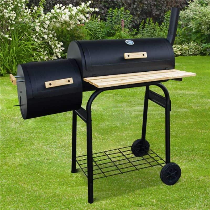 BillyOh Smoker BBQ Charcoal Grill Full Drum + Offset Smoker Barbecue