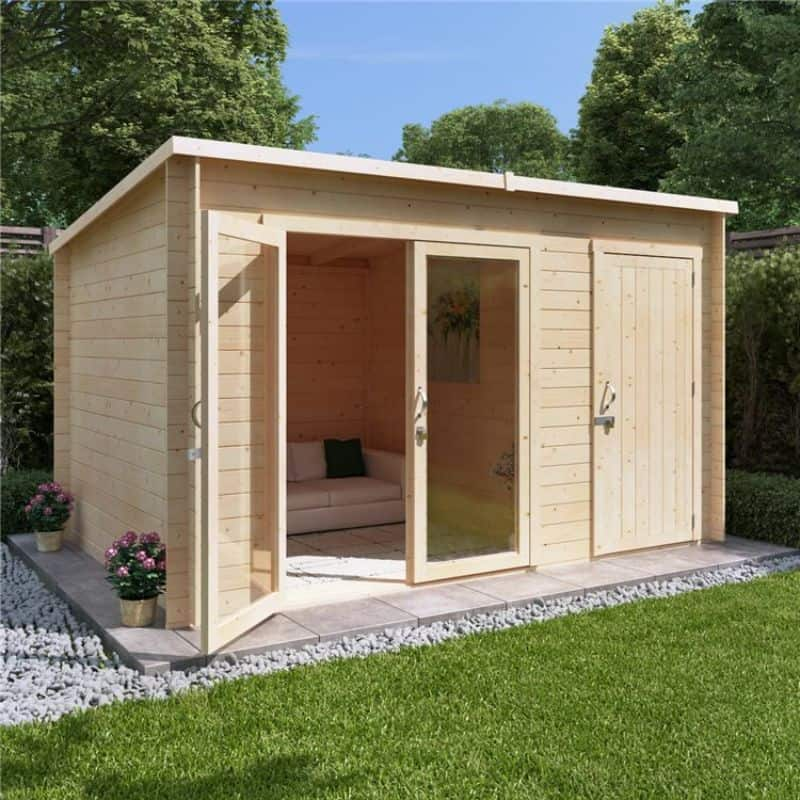 BillyOH Tiana Log Cabin Summerhouse with side store