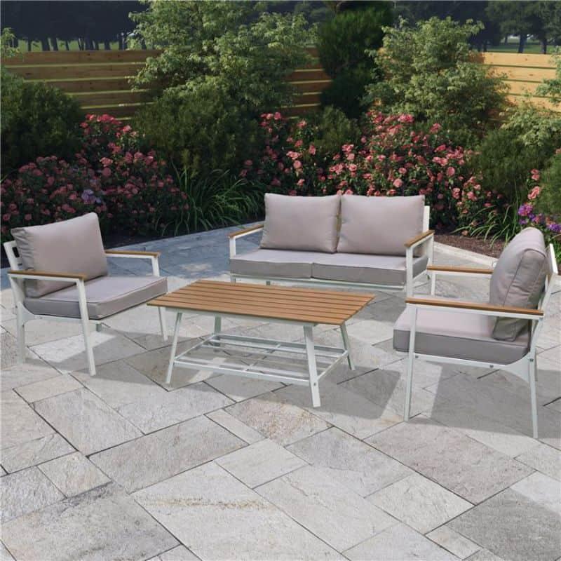 BillyOh Enna 4 Seater Outdoor Aluminium Garden Sofa Set
