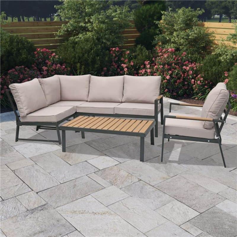 BillyOh Venice 6 Seater Outdoor Aluminium Corner Sofa Set