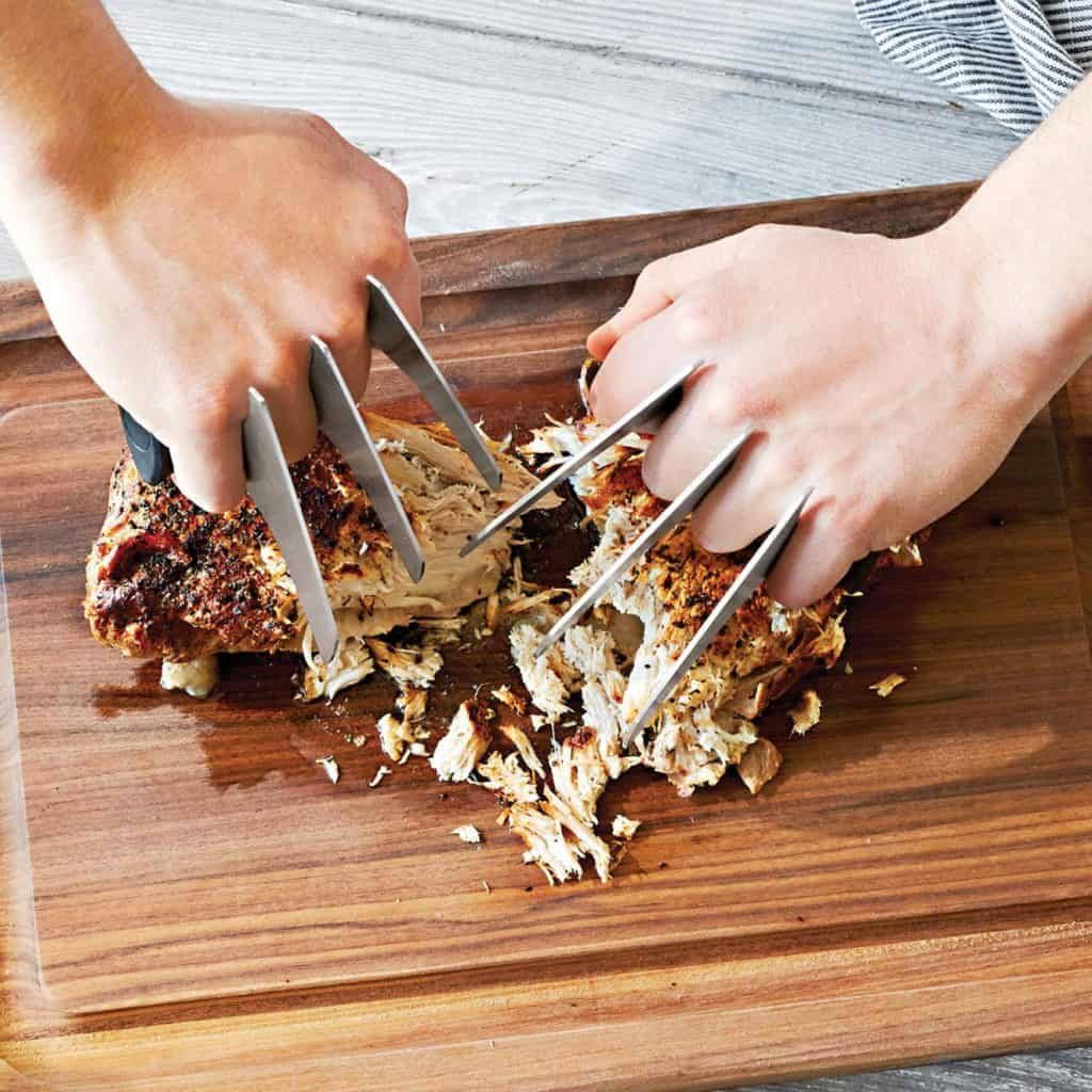 Meat Claws On Chopping Board