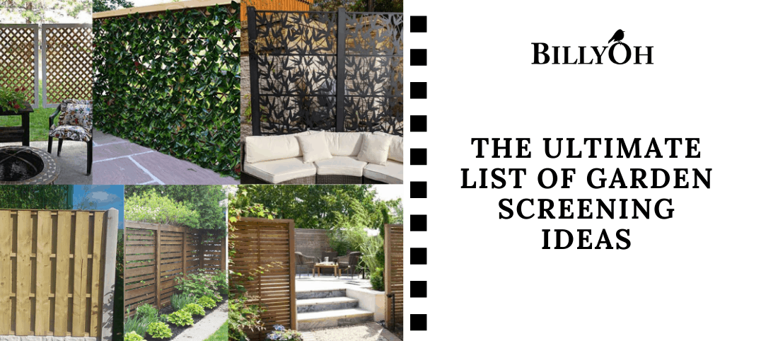 The Ultimate List of Garden Screen Ideas with tiled pictures of garden screens