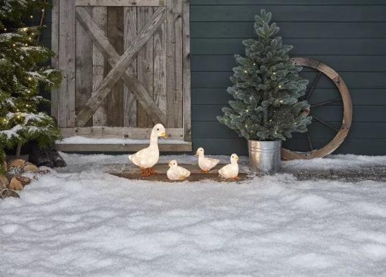 Ducks garden lighting and decorations