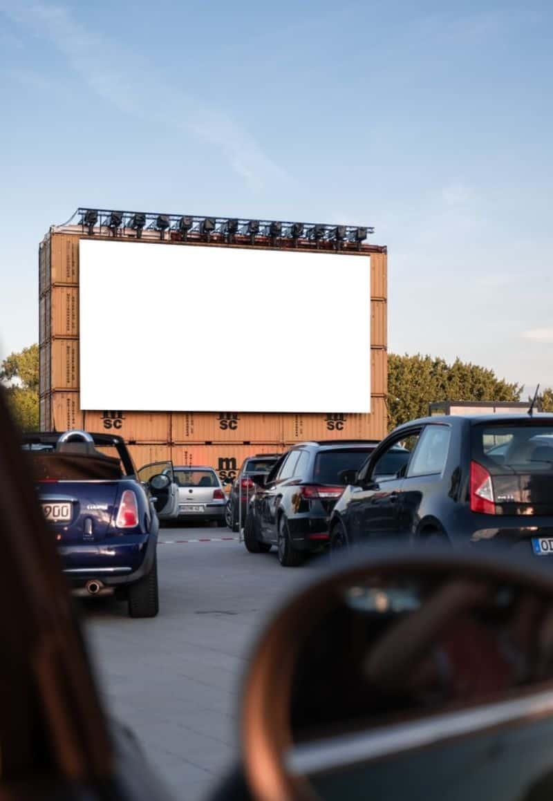 Public movie screenings at parking lot