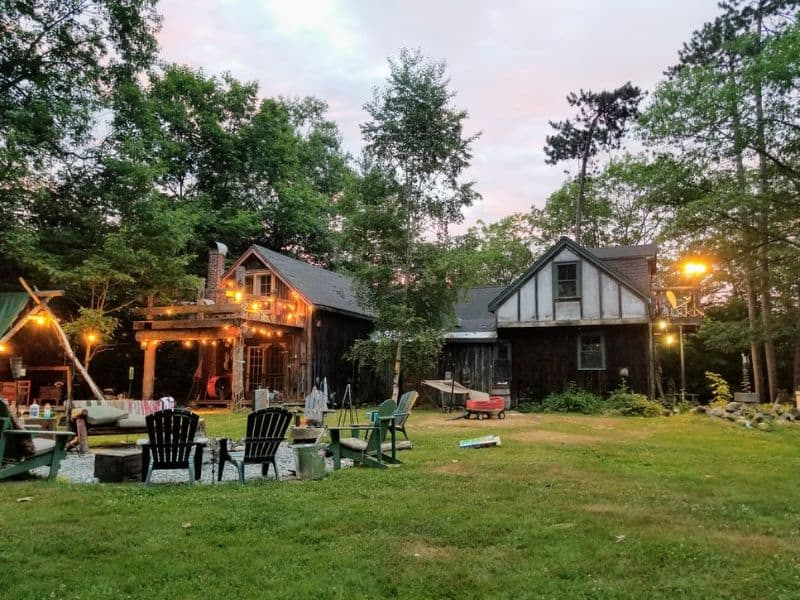 A large outdoor space/backyard