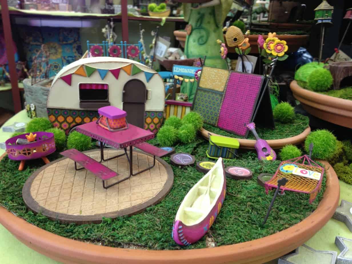DIY campsite fairy garden