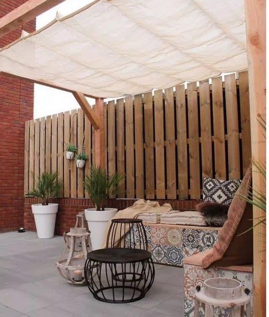 Soft sail fabric canopy
