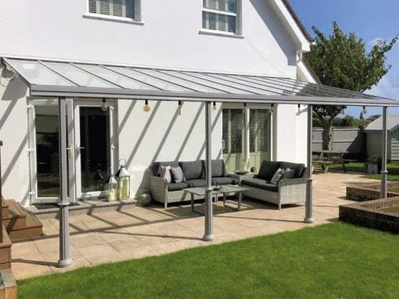 Glass verandas offering a unique extension home living space