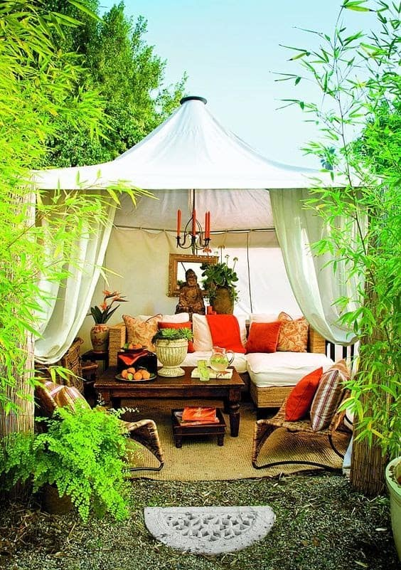 A classy marquee style canopy