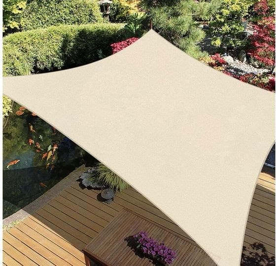 Huge sail canopy in ivory colour