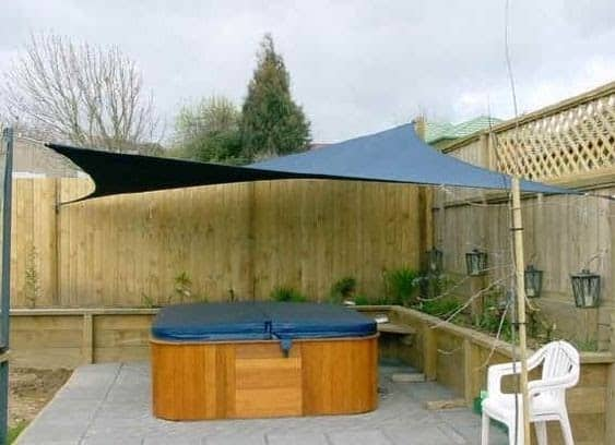 A canopy over your hot tub