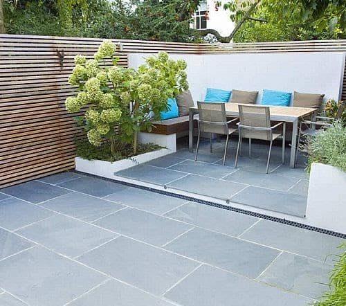 A small outdoor space/backyard hangout
